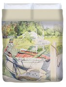 Fishing Duvet Cover by Carl Larsson