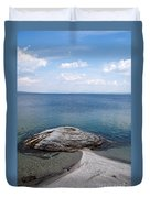 Fishing Cone Geyser In West Thumb Geyser Basin Duvet Cover