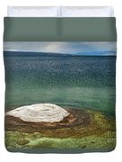 Fishing Cone In West Thumb Geyser Basin Duvet Cover