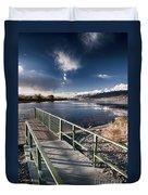 Fishing Dock Duvet Cover
