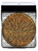 Fishing Dory - Brass Etching Duvet Cover