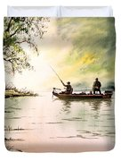 Fishing For Bass - Greenbrier River Duvet Cover