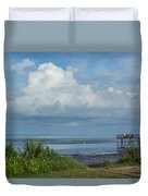 Fishing From The Pier Duvet Cover
