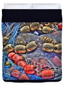 Fishing Gear Duvet Cover by Heidi Smith