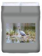 Fishing Heron  Duvet Cover