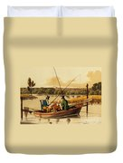 Fishing In A Punt Duvet Cover