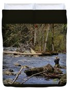 Fishing In Pacific Northwest Duvet Cover