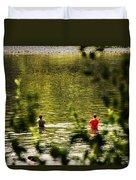 Fishing In The Pond Duvet Cover
