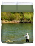 Fishing Lake Taneycomo Duvet Cover