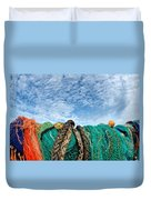 Fishing Nets And Alto-cumulus Clouds Duvet Cover
