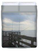 Fishing Off Rodanthe Pier Duvet Cover