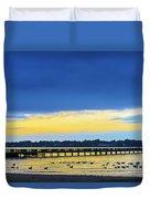 Fishing Pier At Sunset Duvet Cover