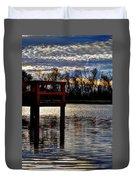 Fishing Pier Sunset  Duvet Cover