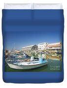 Fishing Port In Jaffa Tel Aviv Israel Duvet Cover