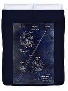 Fishing Reel Patent 1939 Blue Duvet Cover