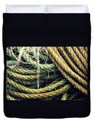 Fishing Rope Textures Duvet Cover