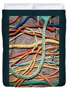 Fishing Ropes And Net Duvet Cover