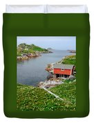 Fishing Stage Little Fogo Island Newfoundland Duvet Cover