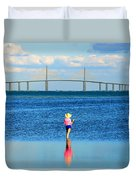 Fishing Tampa Bay Duvet Cover by David Lee Thompson