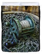 Fishing - That Old Fishing Reel Duvet Cover