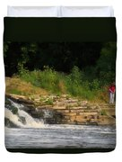 Fishing The Spillway Duvet Cover
