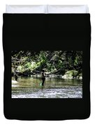 Fishing The Wissahickon Duvet Cover