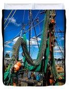 Fishing Vessel Duvet Cover