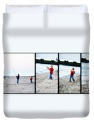 Fishing With Dad - Catch And Release Duvet Cover