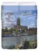 Fishing With Oscar - Doncaster Minster Duvet Cover
