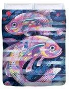 Fishstream Duvet Cover by Sarah Porter