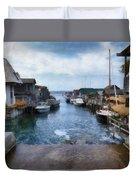 Fishtown Leland Michigan Duvet Cover