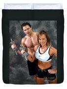 Fitness Couple 17-2 Duvet Cover
