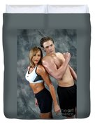 Fitness Couple 43 Duvet Cover