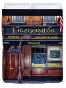 Fitzgeralds Pub - Dublin Ireland Duvet Cover