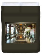 Fiumicino Airport Escalator Duvet Cover