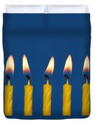 Five Candles Burning Duvet Cover