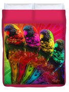 Five Card Monty Duvet Cover