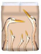 Five Herons Duvet Cover