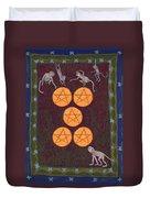 Five Of Pentacles Duvet Cover