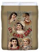 Five Senses Represented By Five Children C1900 Duvet Cover