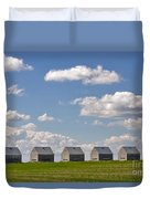Five Sheds On The Alberta Prairie Duvet Cover