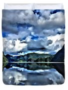 Fjords Of Norway Duvet Cover