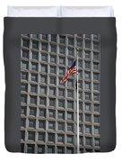 Flag And Windows Duvet Cover