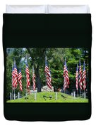 Flag - Illinois Veterans Home - Luther Fine Art Duvet Cover by Luther Fine Art