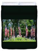 Flag - Illinois Veterans Home - Luther Fine Art Duvet Cover
