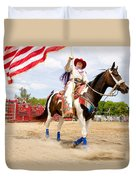 Flag Lady Duvet Cover