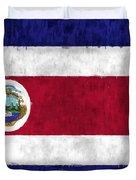 Flag Of Costa Rica Duvet Cover