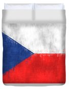Flag Of Czech Republic Duvet Cover