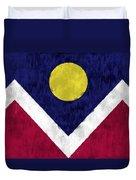 Flag Of Denver Duvet Cover