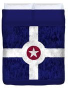 Flag Of Indianapolis Duvet Cover